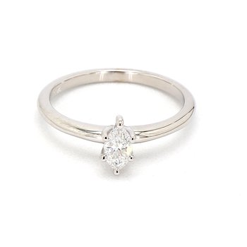 1/3ct Marquise Petite Diamond  Engagement Ring