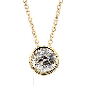 9/10ct Diamond Bezel Set Solitaire Pendant