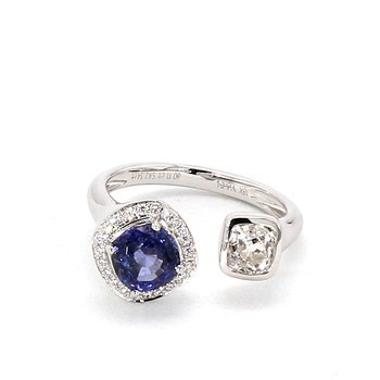 2.45 Carat Sapphire And Diamond Ring