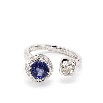 2.45 Carat Sapphire And Diamond Ring
