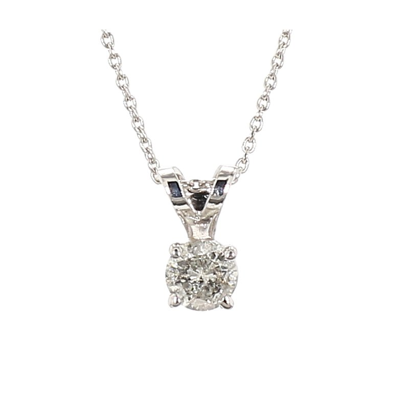 1/5th ct Diaond Solitaire Necklace