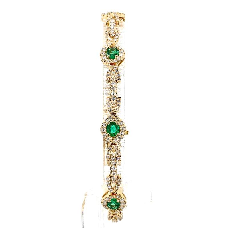 4 1/2ct Emerald & Diamond Bracelet