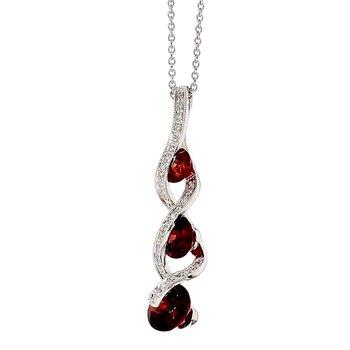 3 1/2ct Garnet & Diamond Pendant