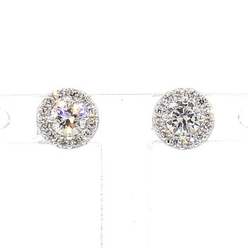 .43ct. Diamond Halo Earrings