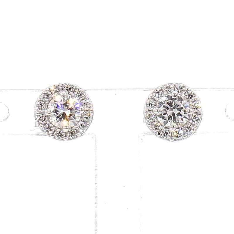 .43ct. Diamond Halo Earrings