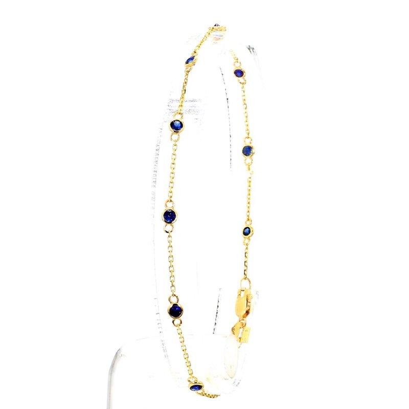 1/2 Ct Sapphire Station Bracelet