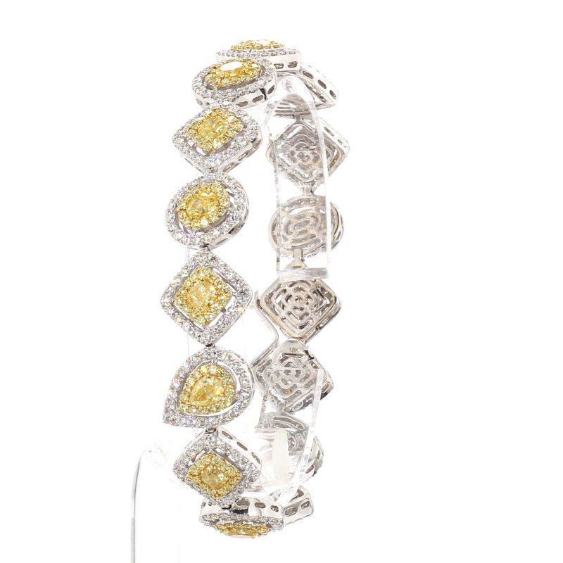 11.08 Carat Diamond Tennis Bracelet