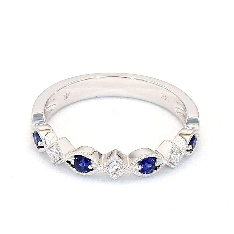 .46 Carat Diamond And Sapphire Wedding Or Anniversary Ring