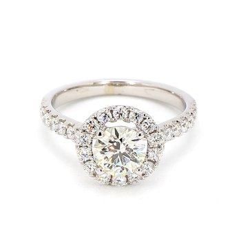 1 3/4ct Diamond Halo Engagement Ring