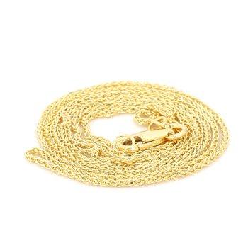 """16"""" 1.05mm 14K Yellow Round Wheat Chain"""