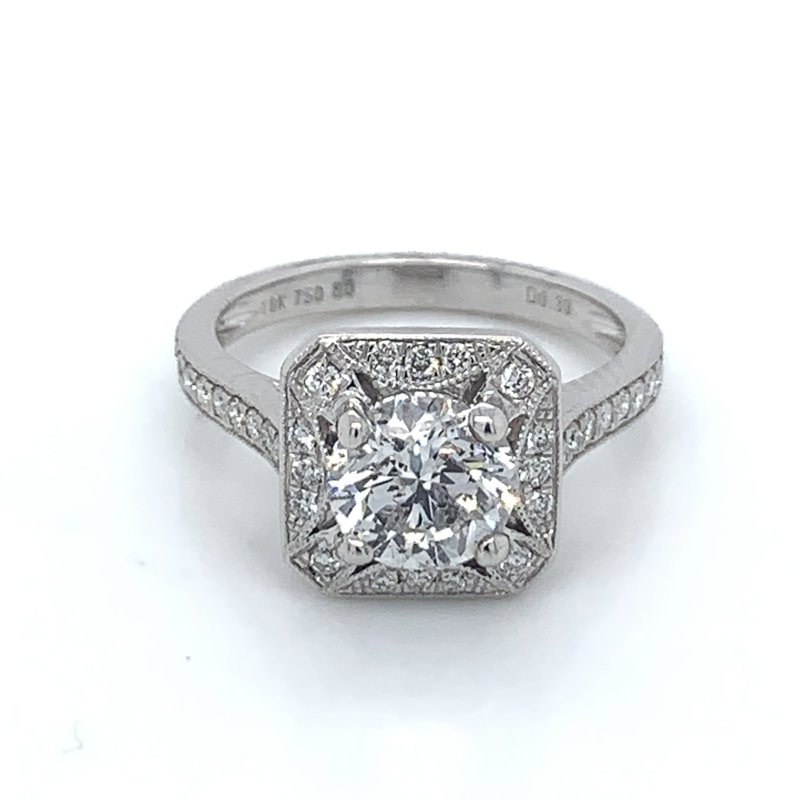 1.91ctw Diamond Halo Engagement Ring