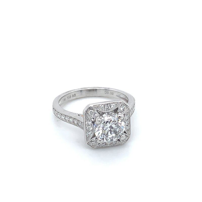 1.91ctw Diamond Halo Engagement Ring