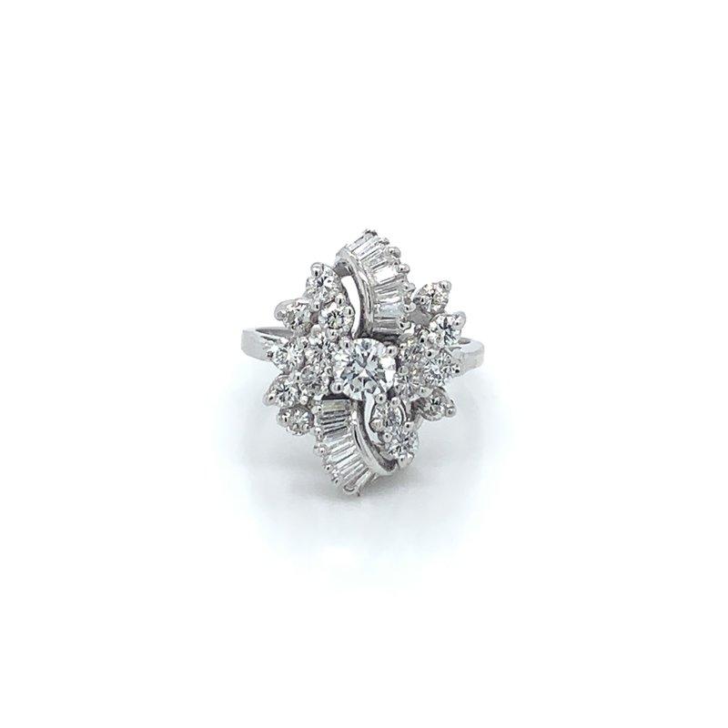 Ladies 1.50ctw Diamond Cluster Ring