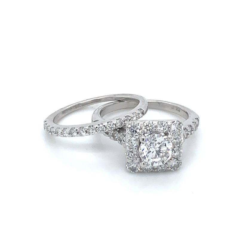 1.75ctw Halo Bridal Set w/ .90ct RBC