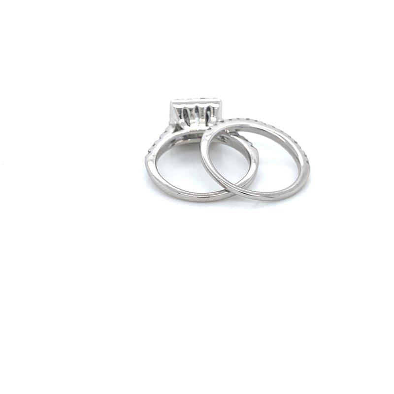 1.75ctw Halo Bridal Set w/ .90ct RBC