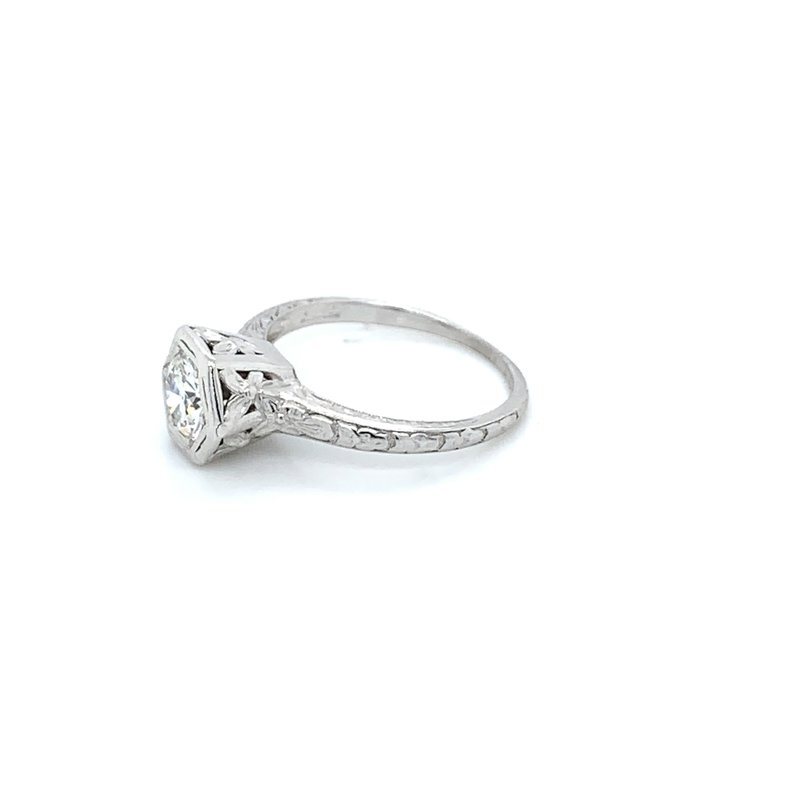Orange Blossom Platinum Vintage Solitaire Ring