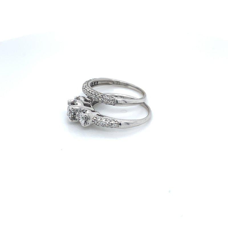 1.50ctw Diamond 3 Stone Bridal Set