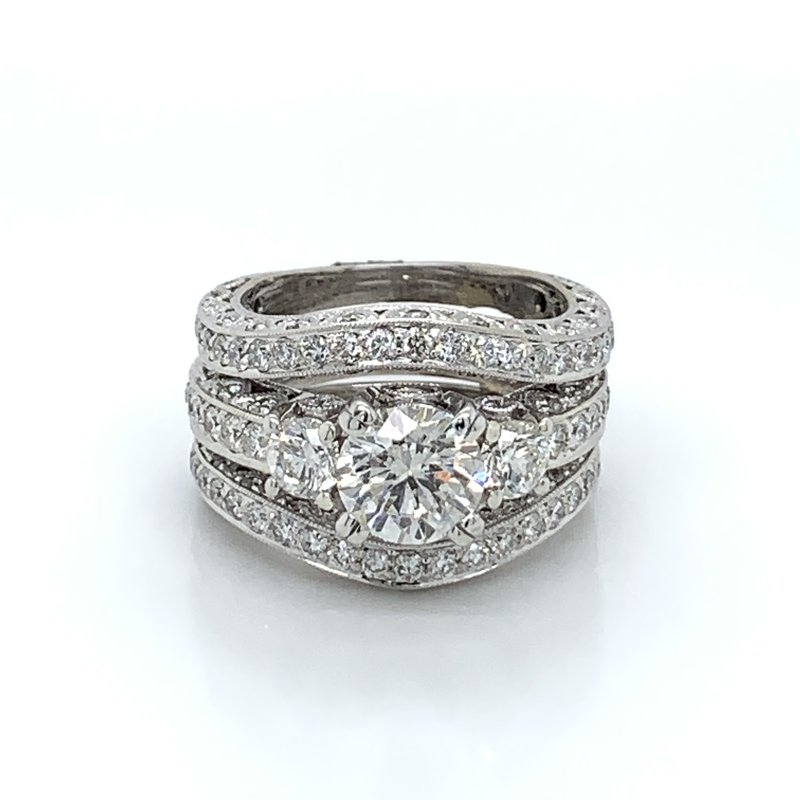 4.19ctw Bridal Set w/ 1.57ct Center
