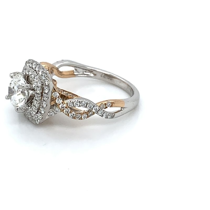 1.97ctw Two Tone Engagement Ring