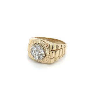 1.00ctw Men's Diamond Rolex Ring