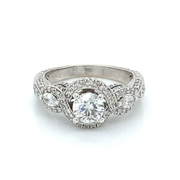 1.50ctw Diamond Engagement Ring w/ .74ct RBC
