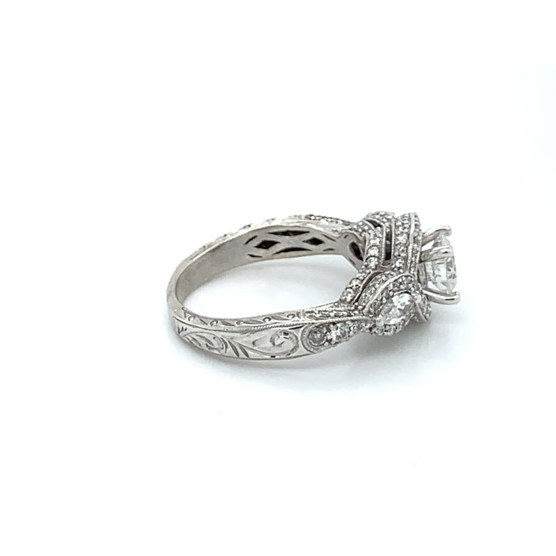 1.50ctw Diamond Engagement Ring w/ .74ct RBC