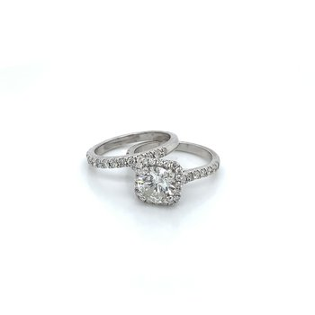 2.57ctw Bridal Set w/ 1.67ct Center