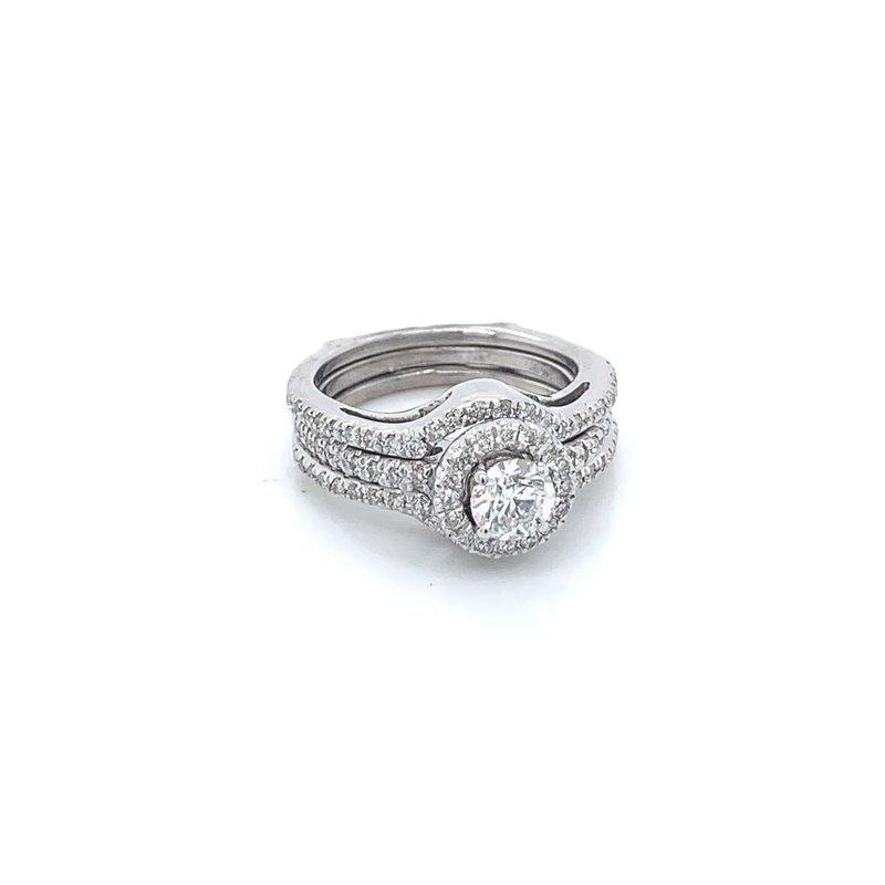 1.00ctw Diamond Bridal Set w/ Wrap