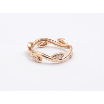 Ladies' 14k Yellow Gold Diamond Ring