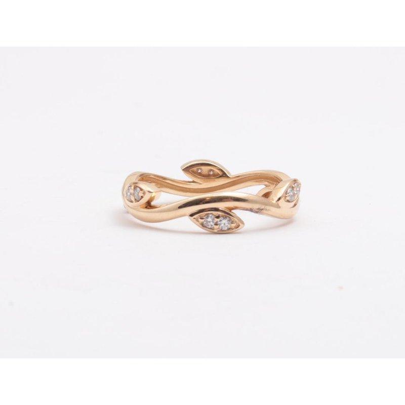Pugh's Signature Ladies' 14k Yellow Gold Diamond Ring