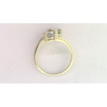 10k Yellow Gold Aquamarine Ring