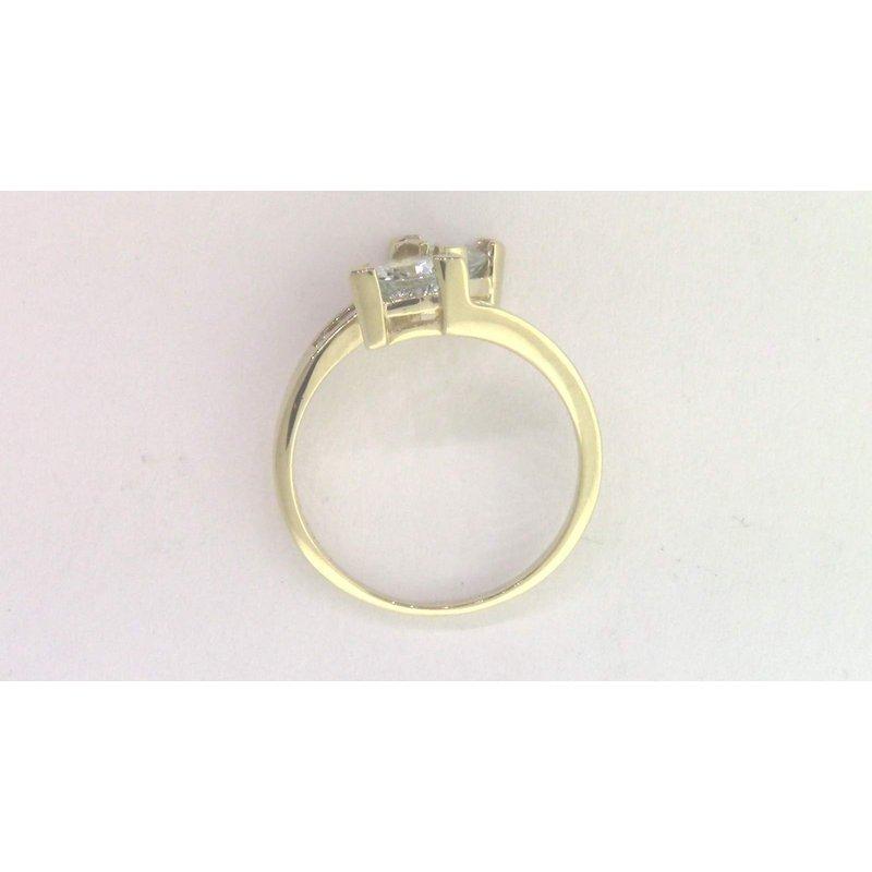Pugh's Signature 10k Yellow Gold Aquamarine Ring