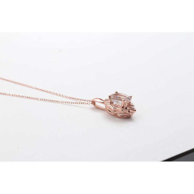 Pugh's Signature 14k Rose Gold Morganite Pendant