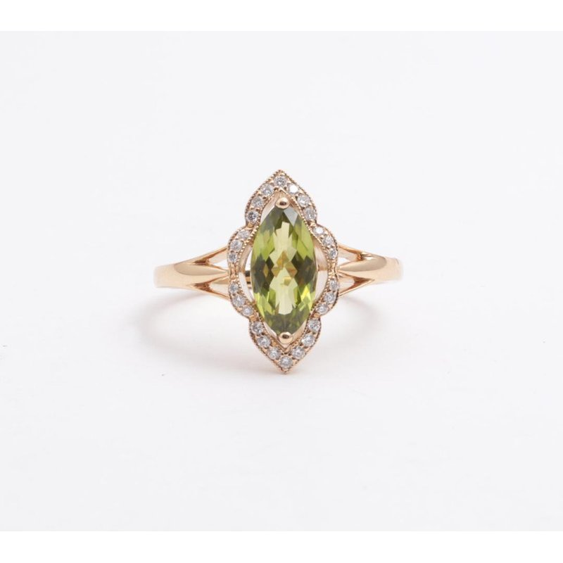 Allison-Kaufman 14k Yellow Gold Peridot Ring