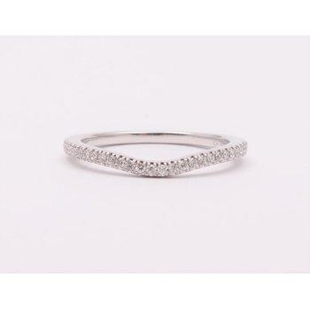 Ladies' 14k White Gold Diamond Wedding Ring