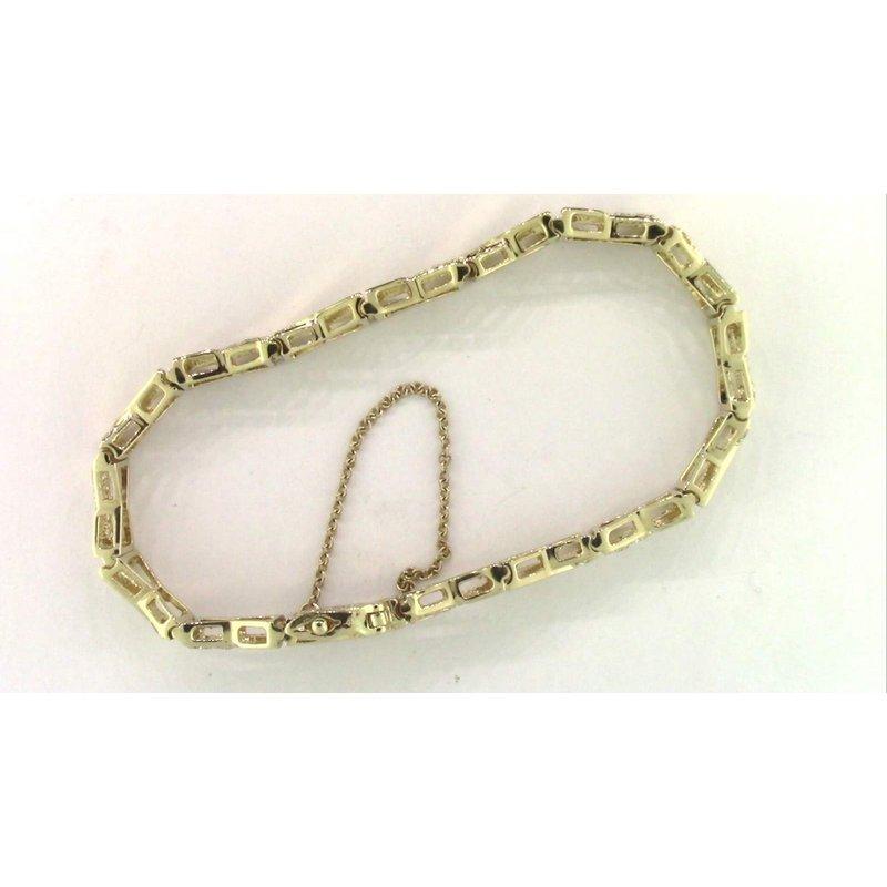 Pugh's Signature Ladies' 14k Yellow Gold Diamond Bracelet