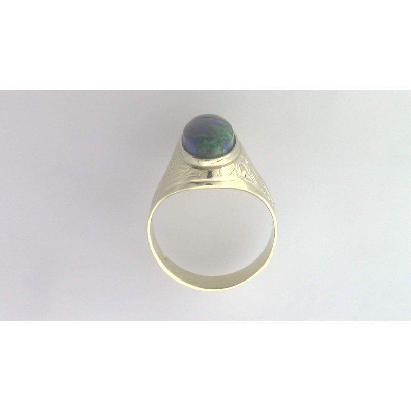 Pugh's Signature 14k Yellow Gold Azurite Ring