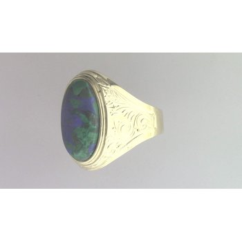 14k Yellow Gold Azurite Ring