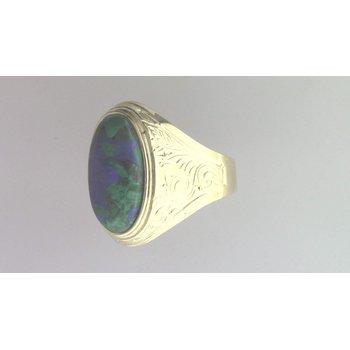 14k Yellow Gold Azurite Ring