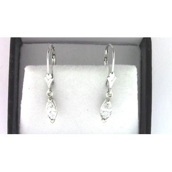 Ladies' 14k White Gold Diamond Earrings