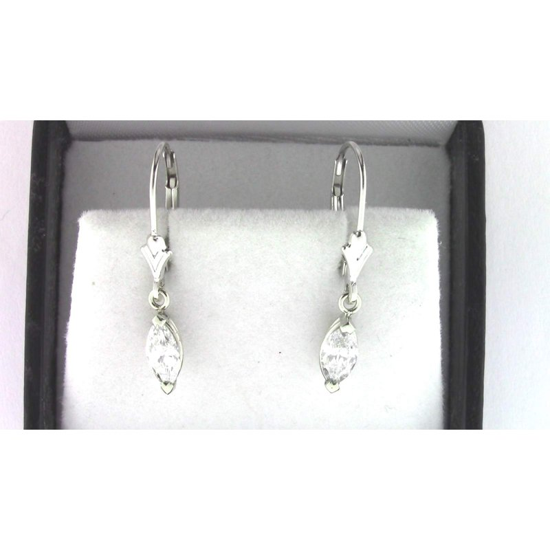 Pugh's Signature Ladies' 14k White Gold Diamond Earrings