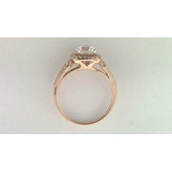 Ladies' 14k Rose Gold 6.5 Mm CZ Stone Diamond Semi Mount Ring