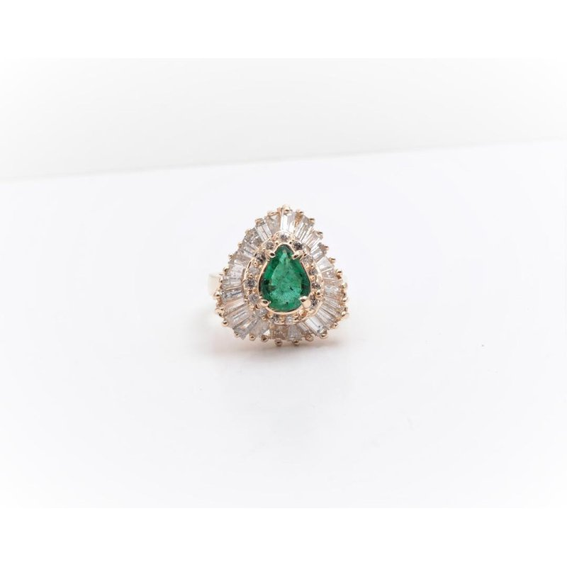 Pugh's Signature 14k Yellow Gold Emerald Ring