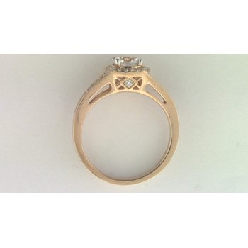 Ladies' 14k Rose Gold 6.5 Mm CZ Stone Diamond Semi Mount Ring