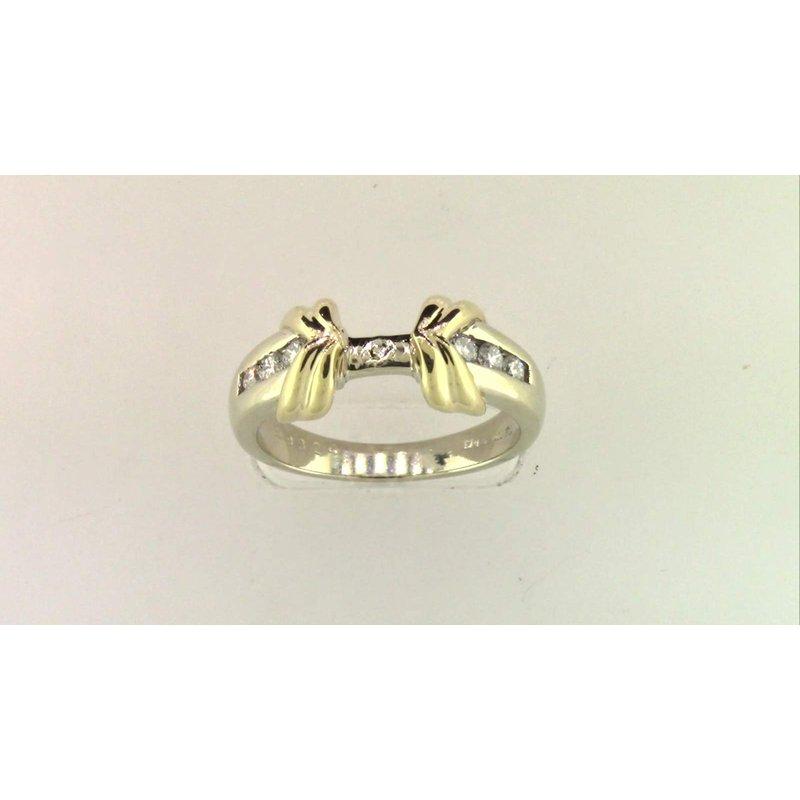 Pugh's Signature 14k White And Yellow Gold Diamond Semi Mount Ring