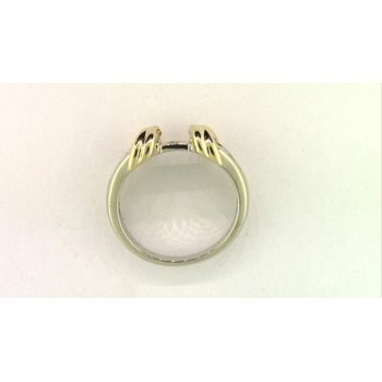 14k White And Yellow Gold Diamond Semi Mount Ring
