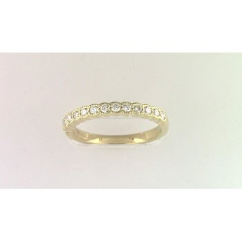 14k Yellow Gold Cz Stone Semi Mount Ring