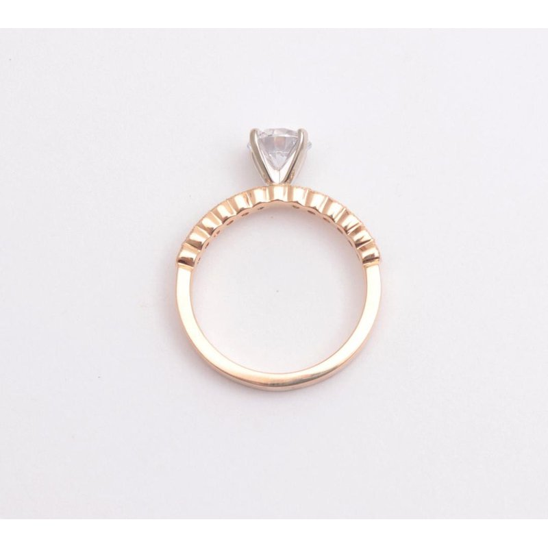 Pugh's Signature 14k Yellow Gold Cz Stone Semi Mount Ring