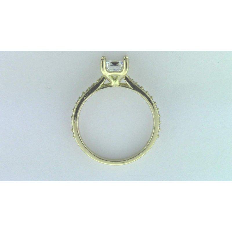 Pugh's Signature Ladies' 18k Yellow Gold CZ Stone Semi Mount Ring