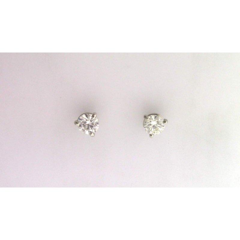 Pugh's Signature 14k White Gold Diamond Earrings
